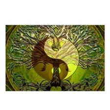 Yin Yang Green Tree of Life Postcards (Package of