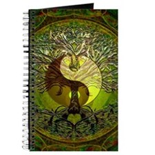Yin Yang Green Tree of Life Journal
