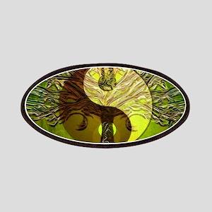 Yin Yang Green Tree of Life Patch