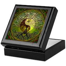 Yin Yang Green Tree of Life Keepsake Box