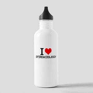 I Love Epidemiology Water Bottle