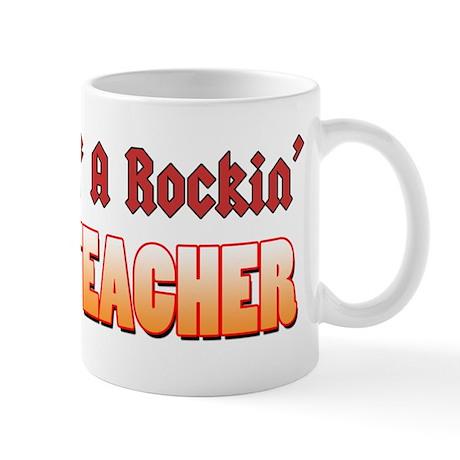Property Of A Rockin Guitar Teacher Mug