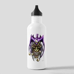 Evil Jester Skull Punk Stainless Water Bottle 1.0L