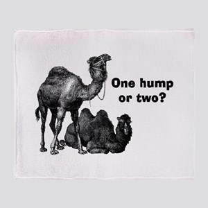 Funny Camels Throw Blanket