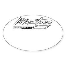 mustang Sticker (Oval)