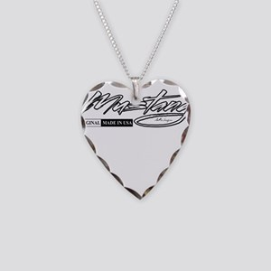 mustang Necklace Heart Charm