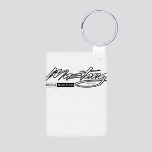 mustang Aluminum Photo Keychain