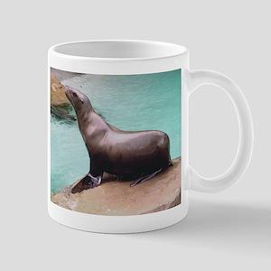 Sea Lion on Rock Mug