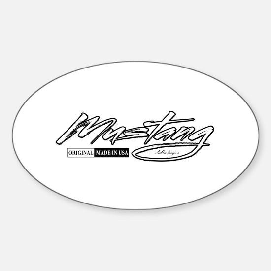 MustangUSA2 Sticker (Oval)