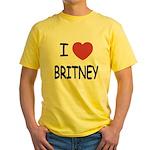 I heart Britney Yellow T-Shirt
