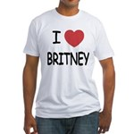 I heart Britney Fitted T-Shirt