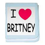 I heart Britney baby blanket