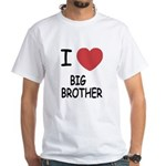 I heart my big brother White T-Shirt