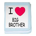 I heart my big brother baby blanket