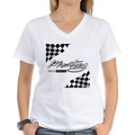 MustangFlags Women's V-Neck T-Shirt