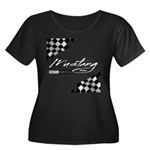 MustangFlags Women's Plus Size Scoop Neck Dark T-S