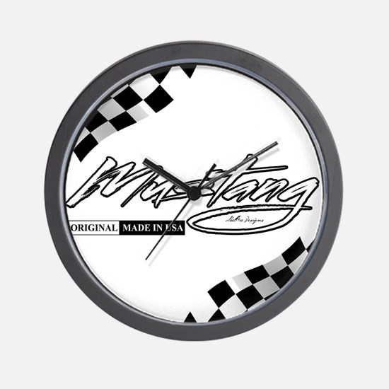 MustangFlags Wall Clock