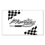 MustangFlags Sticker (Rectangle)