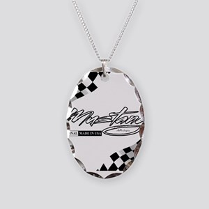 MustangFlags Necklace Oval Charm