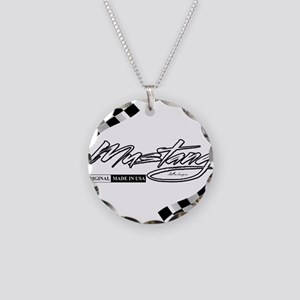 MustangFlags Necklace Circle Charm
