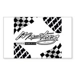 Mustang Tire Sticker (Rectangle)