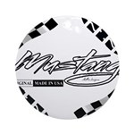 Mustang Tire Ornament (Round)