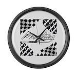 Mustang Tire Large Wall Clock