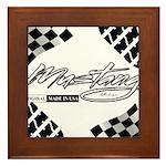 Mustang Tire Framed Tile