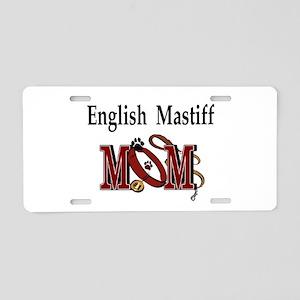English Mastiff Mom Aluminum License Plate