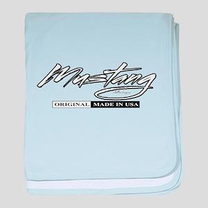Mustang 2012 baby blanket