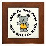 Cute Koala Framed Tile