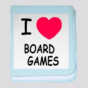 I heart board games baby blanket