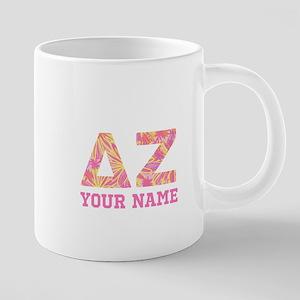 Delta Zeta Pink Yellow Lett 20 oz Ceramic Mega Mug