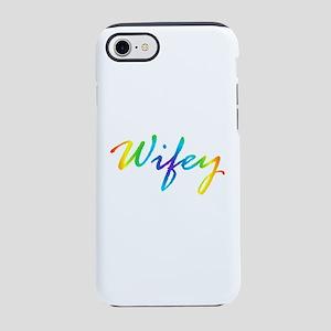 rainbow wifey lesbian couple iPhone 7 Tough Case