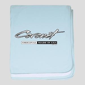 Coronet baby blanket