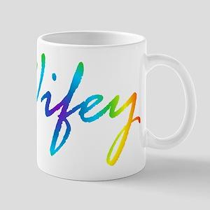 rainbow wifey lesbian couple Mugs