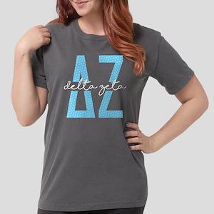 Delta Zeta Polka Dots Womens Comfort Colors Shirt