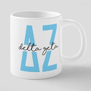 Delta Zeta Polka Dots 20 oz Ceramic Mega Mug