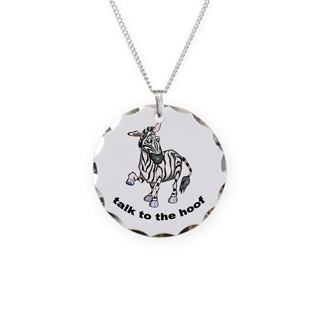 Cute Zebra Necklace Circle Charm
