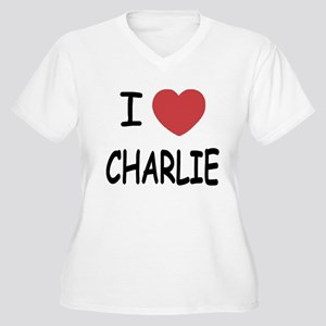 I heart charlie Women's Plus Size V-Neck T-Shirt
