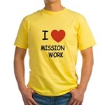 I heart mission work Yellow T-Shirt