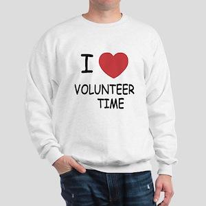 I heart volunteer time Sweatshirt