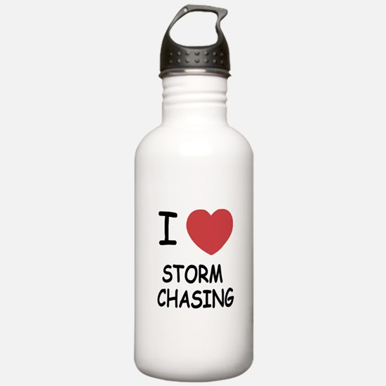 I heart storm chasing Water Bottle