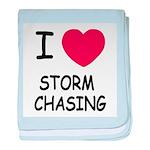 I heart storm chasing baby blanket