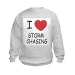 I heart storm chasing Kids Sweatshirt