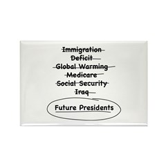 Future Presidents Rectangle Magnet