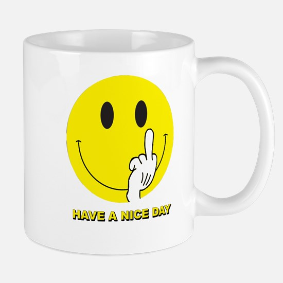 SMILEY-FINGER-HAVE-A-NICE-D Mugs