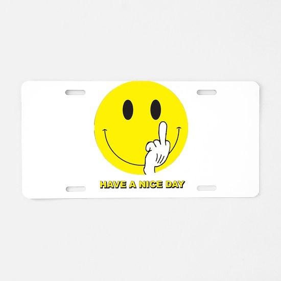 Unique Smileys Aluminum License Plate