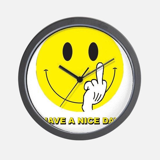 Cute Have a nice day Wall Clock