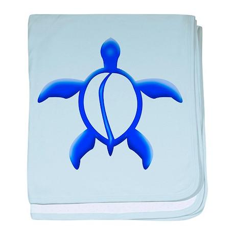 Blue Turtle baby blanket